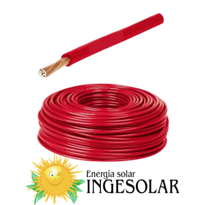 Cable solar rojo 4 mm2